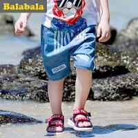 巴拉巴拉童装男童五分裤中大童裤子2017夏季新款儿童童裤中裤男潮