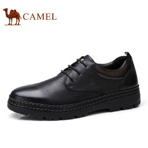 camel 骆驼男鞋 秋季新款低帮鞋日常休闲牛皮系带舒适耐磨皮鞋