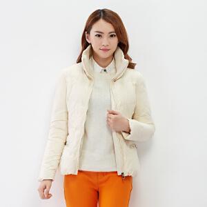 【2件3折价119.7元】唐狮冬装羽绒服韩版女可拆卸毛领短款修身女士羽绒服