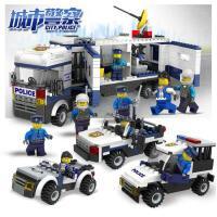 兼容乐高积木机器人 警察汽车拼插儿童益智男孩子6-10岁拼装玩具