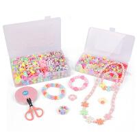 �和�串珠��手�穿珠子女孩手工diy制作材料包益智�珠玩具