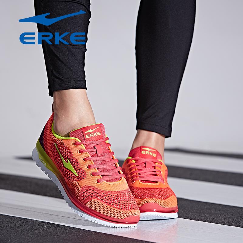 鸿星尔克女鞋2017新款学生跑步鞋休闲透气运动鞋品牌直营,正品保证