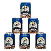 台湾伯朗咖啡 蓝山风味咖啡饮料 三合一咖啡即饮品 240ml*6罐装