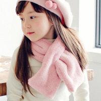 儿童围巾秋冬季男童女童宝宝仿獭兔毛围脖