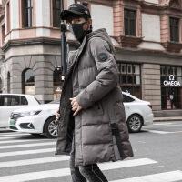 2018新款冬季外套男中长款棉衣羽绒棉袄青少年韩版潮流冬装男 灰色 M