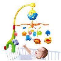 美贝乐音乐旋转床铃新生婴幼儿宝宝益智玩具0-1岁带手摇铃床头铃