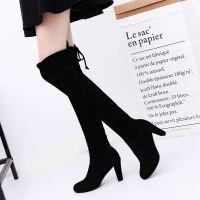 大码鞋子女学生韩版女靴磨砂靴高筒靴子秋冬过膝靴过膝长靴