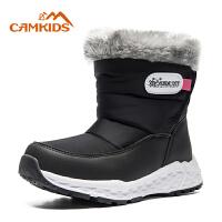 camkids垦牧童鞋儿童雪地靴2018冬新款防滑保暖女童靴中大童棉靴