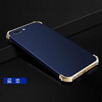 BaaN OPPOR11PLUS手机壳OPPOR11PLUS保护套防摔全包边防指纹电镀三段硬壳 金蓝色