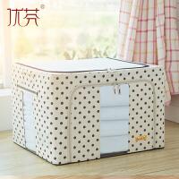 纺帆布衣物棉被子收纳箱大码折叠储物箱特大号大容量整理箱