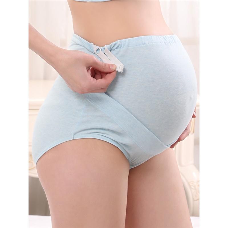 孕妇内裤女棉裆怀孕期早期中期晚期高腰托腹可调短裤内衣孕妇内裤