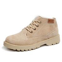 秋冬新款原宿罗马风马丁靴女英伦复古磨砂平底机车靴学生加绒短靴