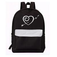 帆布日韩版潮大容量双肩旅行背包运动书包中学生女包双肩休闲背包