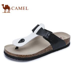 camel骆驼男鞋  春季新款户外休闲凉拖鞋 沙滩鞋人字拖