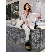 七格格哈伦裤女秋冬季装2018新款韩版仿毛呢料束脚休闲裤子奶奶裤