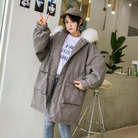冬季外套女棉衣2018新款韩版宽松大毛领中长款加厚学生棉袄女