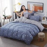 床上用品三件套 芦荟棉床单被套床单四件套