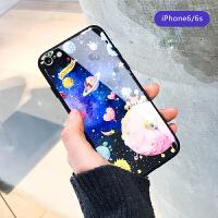 苹果iphone7plus手机壳玻璃全包防摔6s个性创意潮牌男女款8x星球