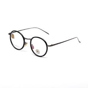 明治/KHDESIGN 复古眼镜框男女款圆形文艺全框镜架成品近视眼镜KS1742