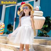 【3件6折/2件7折】巴拉巴拉童装女童 连衣裙2017夏季新款儿童 裙子公主裙童装 夏装休闲