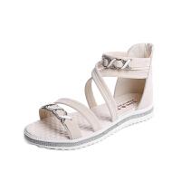 凉鞋女鞋平底鞋2019春秋新款包跟学生罗马鞋夏季露趾鞋沙滩鞋