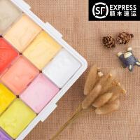 马蒂斯35色初学者美术绘画工具套装丙粉颜料49色果冻水粉颜料
