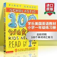 学乐美国英语教材小学一年级100个单词词汇练习册英文原版书正版进口英文版Scholastic 100 Words Ki