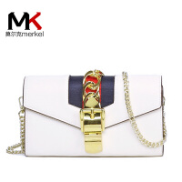 莫尔克(MERKEL)新款时尚缎带女手拿包钱包多卡位信封包晚宴包单肩斜跨迷你小包链条包