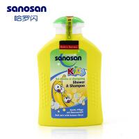 德国进口哈罗闪  儿童香蕉泡泡浴洗发沐浴露二合一200ml 洁净呵护