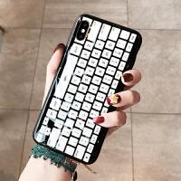 创意键盘苹果x手机壳iPhone7plus/8/6s个性套潮男款苹果Xs Max/XR 6/6s 水感黑白键盘