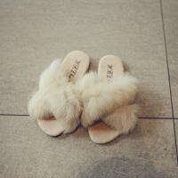 秋冬季儿童鞋子休闲毛毛室内女童拖鞋