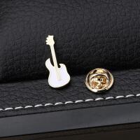 胸针吉他小领针男西装胸花衬衫领扣针徽章配饰品