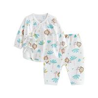婴儿内衣套装纯棉和尚服新生儿睡衣两用裆丛林狮子两用裆合同套