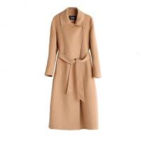 反季双面羊绒大衣女中长款2018新款修身韩版过膝收腰高端毛呢外套