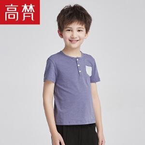 高梵2018儿童T恤 男童短袖t恤中大童休闲上衣男宝宝夏季