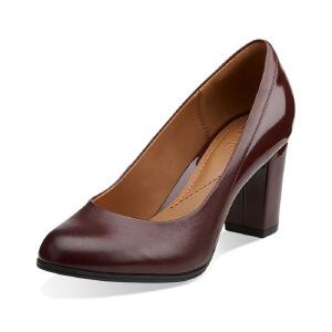 Clarks/其乐女鞋2017秋冬新款时尚高跟单鞋Basil Auburn专柜正品直邮