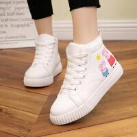 女童女孩子棉鞋小学生百搭休闲板鞋大童儿童鞋子11-12-15岁小白鞋