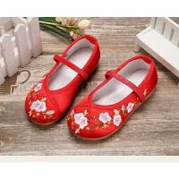 女童汉服古装鞋布鞋民族舞蹈鞋小女孩鞋子女宝宝童鞋绣花鞋男童鞋