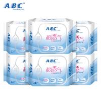 ABC含KMS清凉配方丝薄棉柔163mm卫生护垫6包 共132片