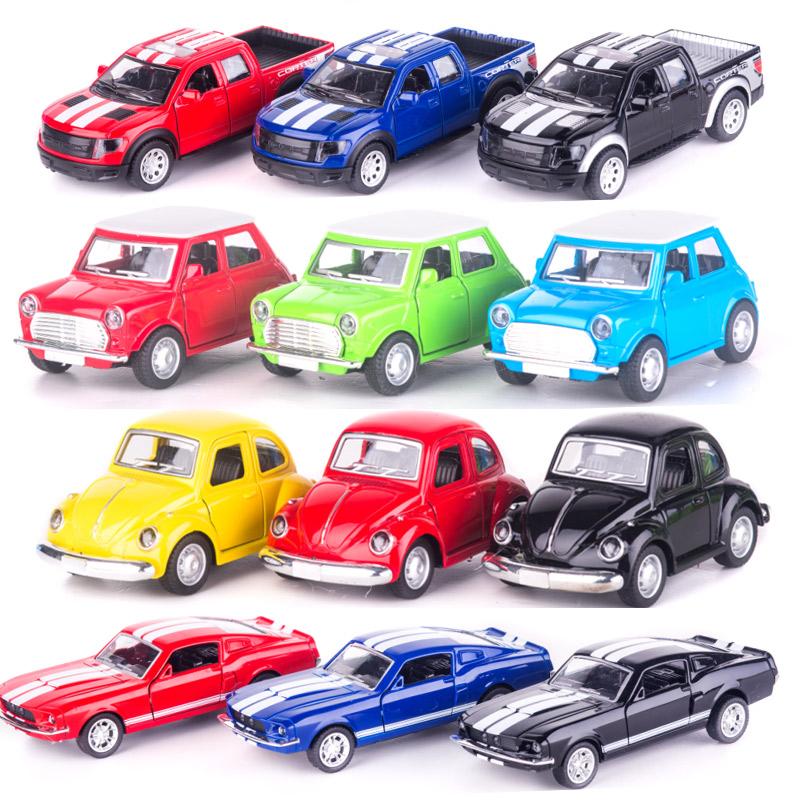 老爷车越野合金回力小汽车模型仿真Q版儿童迷你玩具车