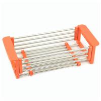 不锈钢水槽沥水架可伸缩置物架子厨房用品碗碟收纳架餐具滴水砧板