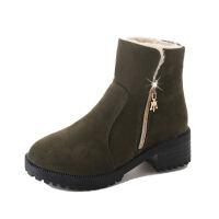 雪地靴加绒棉鞋防滑保暖厚底粗跟百搭妈妈鞋女短筒新款短靴