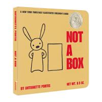 【首页抢券300-100】Not A Box 不止是箱子 启蒙纸板书 吴敏兰 苏斯奖 英文绘本原版 儿童英文原版进口图书