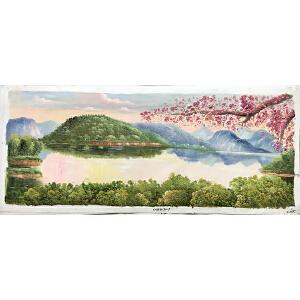 风景油画作品  70X180-055