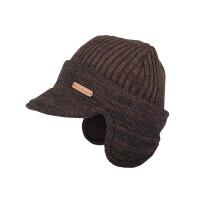 帽子女秋冬季毛线帽针织帽厚翻边保暖护耳套头帽鸭舌帽子