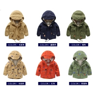 男童风衣棉衣外套冬装童装儿童宝宝