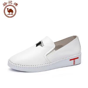 骆驼牌女鞋 新品手工缝制时尚舒适女低跟套脚舒适休闲低帮