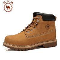 骆驼牌 新款真皮男鞋 户外休闲男靴子工装靴保暖耐磨
