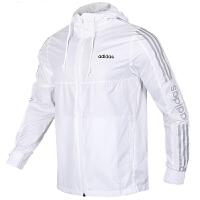 Adidas阿迪达斯 男装 NEO运动防风衣休闲连帽夹克外套 EI4677