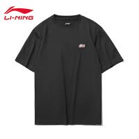 李宁短袖T恤男士2021春夏新款棉T简约休闲上装男装圆领运动服